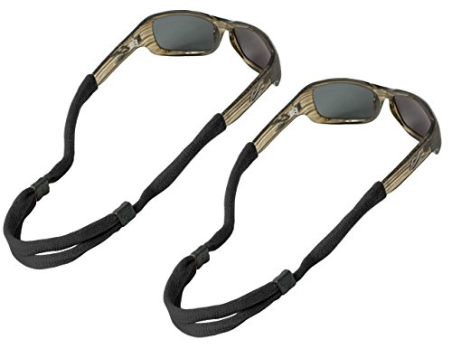 Chums No Tail Adjustable Cotton Eyeglass and Sunglass Retainer / Strap, Black (2 - For Wayfarers Straps Sunglass