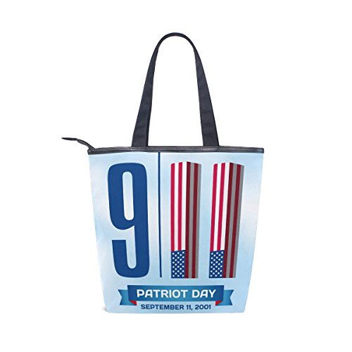 Handbag Womens Tote Canvas 911 MyDaily Shoulder Patriot Day Bag gFA44w8aq