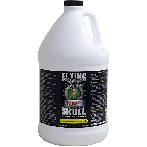 FLYING SKULL CUSTOS PLANTAM PLANT PRODUCTS Nuke em Insecticide & Fungicide, 1 Gallon