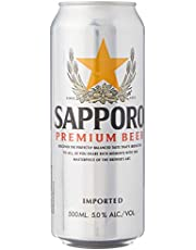 Sapporo Premium Beer, 500 ml (Pack of 24)