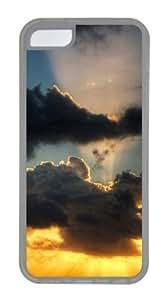 Customized Case Black clouds TPU Transparent for Apple iPhone 5C