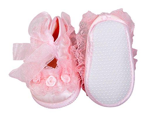 Rosas y encaje con volantes Baby Girl Toddler Pre Walker cuna cochecito Set de regalo de 2rosa y marfil, amarillo y rosa, zapatos Ivory & Pink