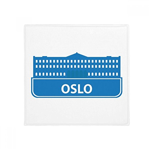 DIYthinker Oslo Norway Blue Landmark Pattern Anti-Slip Floor Pet Mat Square Home Kitchen Door 80cm ()