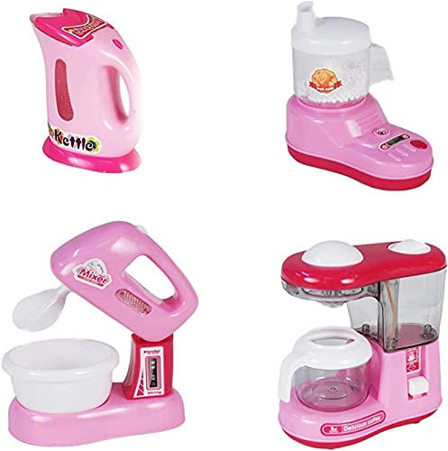 Lution Battery Operated Pack of 4 Pieces Household Home appliances Play Set for Girls with Realistic Sound -Washing Machine,Sewing Machine,Vacuum Cleaner,Fan,Hair Dryer etc- 41R0AYO17 S India 2021