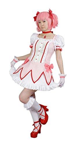 [Milicabooks Women's Cosplay Costume Puella Magi Madoka Magica Madoka Kaname US4] (Puella Magi Madoka Magica Madoka Kaname Cosplay Costume)