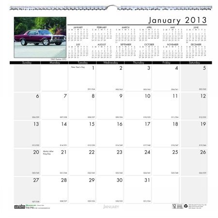 Doolittle Classic Cars - House of Doolittle Earthscapes Classic Cars Wall Calendar 12 Months January 2013 to December 2013 12 x 12 Inches Photo Recycled, Full Color (HOD3771)