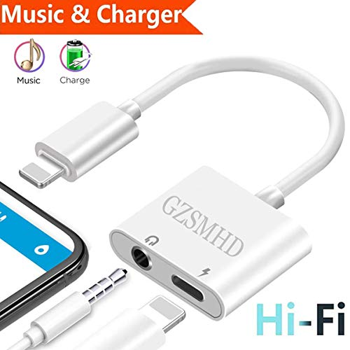 GZSMHD Headphone Jack Adapter to 35mm earbuds Splitter Car Chargers Aux Jack Headset Audio and Charger Cable Dongle Earphone Connector Convertor Aux AudioampCallampControl Support iOS 23 or Later