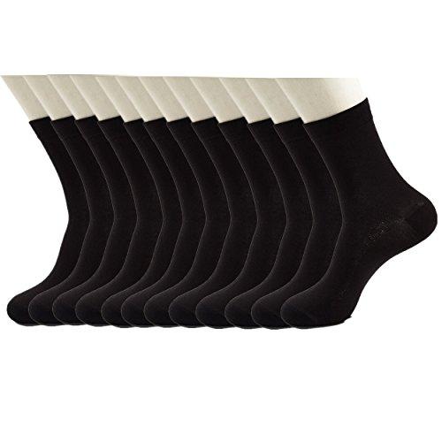 hzh-women-and-men-thin-antibacterial-bamboo-fiber-socks-pack-of-12-black-womens-8-12-mens-7-10