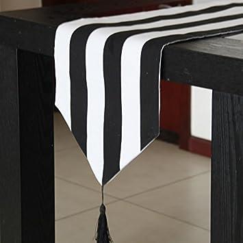 SAEJJ-Tischläufer was macht moderne hochwertige schwarz - weiß ...