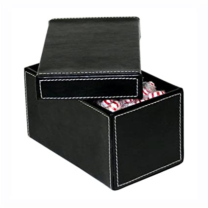 Faux Leather Storage Boxes Small Black  sc 1 st  Amazon.com & Amazon.com: Faux Leather Storage Boxes Small Black: Kitchen u0026 Dining