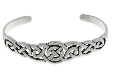 Jewelry Trends Sterling Silver Celtic Round Knot Bangle - Bracelet Bangle Celtic