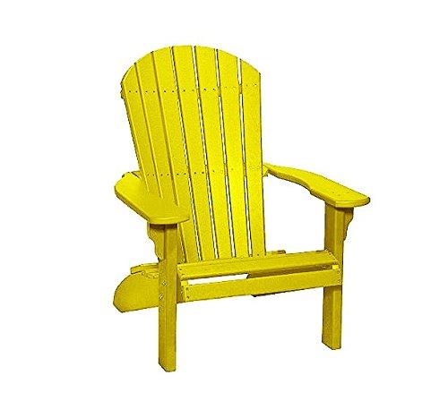 Poly Fan-Back Adirondack Chair (Yellow)