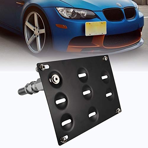 runmade Front Bumper Tow Hook Adapater License Plate Mounting Bracket Holder for BMW E39 E46 E90 E91 E92 E93 E70 E71 F10 F30 G30 1 3 4 5 Series X1 X3 X4 X5 X6