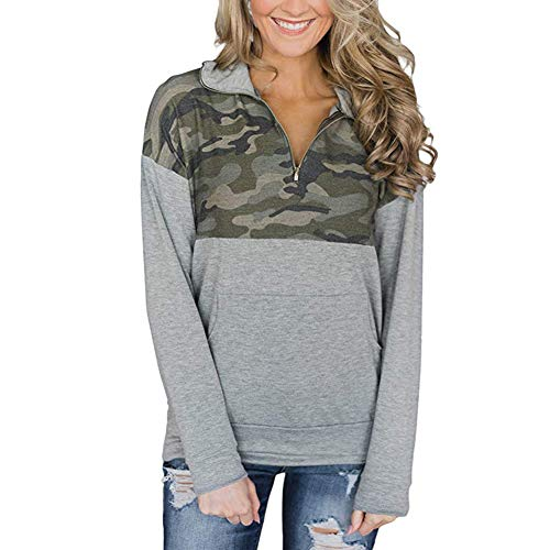 FISOUL Women's Long Sleeve 1/4 Zip Fleece Pullover with Pockets