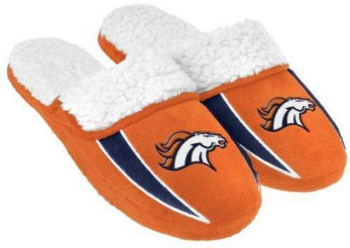 (2013 NFL Football Mens Team Logo Sherpa Slippers (Denver Broncos, Extra Large 13-14))