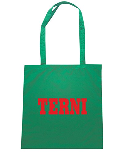 T-Shirtshock - Bolsa para la compra WC0973 TERNI ITALIA CITTA STEMMA LOGO Verde