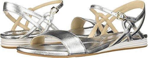 Cole Haan Women's Chelsie Sandal Silver Metallic 5 B US