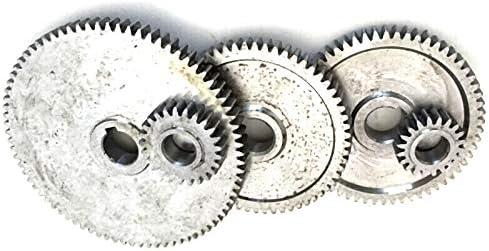 Set Engranajes de Torno Engranajes de Torno Engranajes de M/áQuina de Corte de Metal Etase 17Pcs