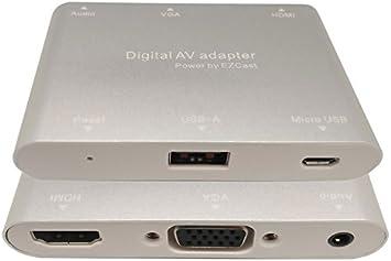 Euroconnex - Conversor USB 2.0 a HDMI + VGA + Audio Digital. Para conectar un portátil o tablet a la mayoría de receptores.: Amazon.es: Electrónica