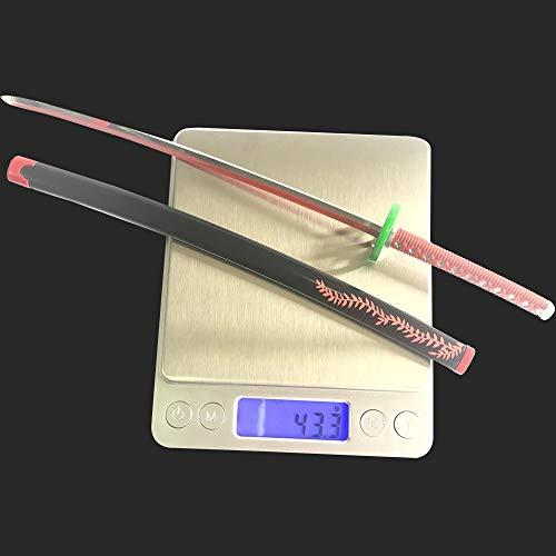 Demon Slayer 1/6 Size 10'' Kamado Nezuko Sword Samurai Sword Katana Knife Toys Action Figures Game Collection Sword Party Supplies Gift Sword Metal Room Decoration (Kamado Nezuko)