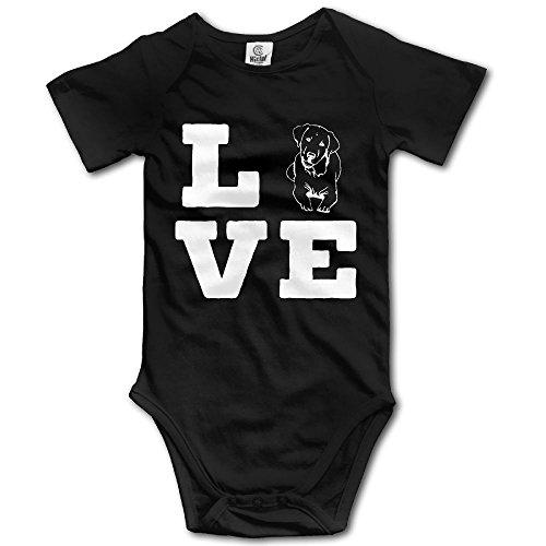 3m Dog Treats (M37 Love Dog Infant Baby Bodysuit Baby Onesie Black 3M)