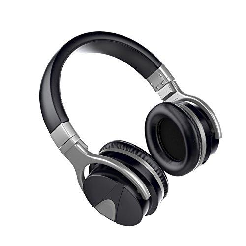 USTEK Wireless Headphones, Active Noise Cancelling Headphones Bluetooth Headphones with Mic Deep Bass Wireless Headphones,Over Ear Bluetooth Stereo Headphones with Microphone Adjustable Earphones ANC by USTEK