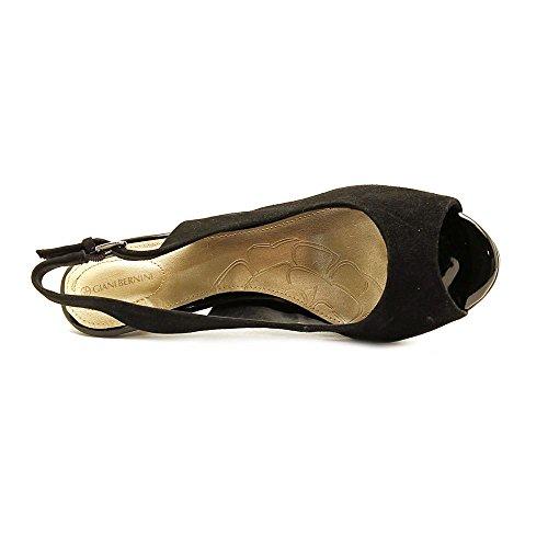 Giani Bernini Womens Benette Canvas Peep Toe Slingback Classic Pumps Black bMiqGI