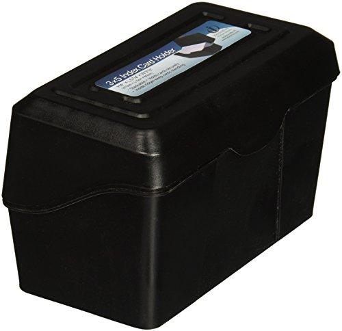 Advantus 45001 Index Card Box, Plastic, 3