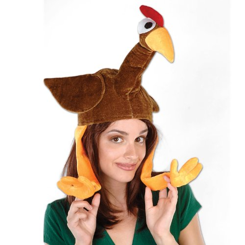 Plush Gobbler Hat Party Accessory (1 count) ()
