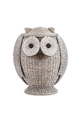 Owl Bathroom Hamper, 20.8''Hx16.5''Wx16.1''D, GREY by Home Decorators Collection