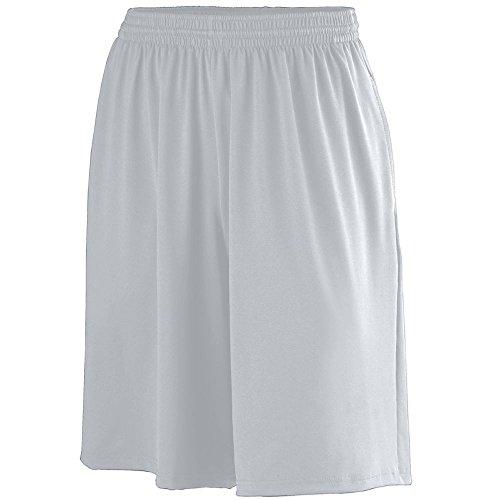 Augusta Sportswear Men's POLY/SPANDEX SHORT WITH POCKETS XL Silver Grey