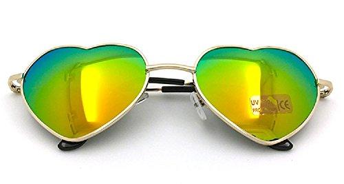 Flowertree Women's S014 Heart Aviator 55mm Sunglasses (Orange - Orange Sunglass Hut