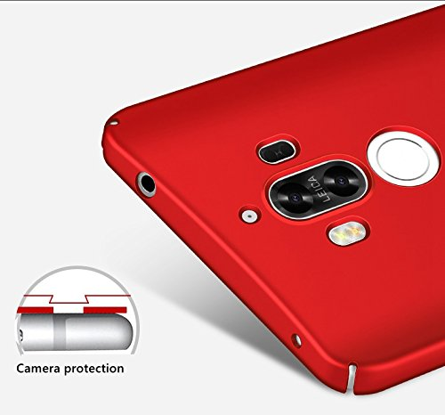 inShang funda para Huawei Mate 9 funda del teléfono móvil, anti deslizamiento, ultra delgado y ligero, Estuche, Cubierta, carcasa duro hecho en el material de la PC, frosted shell, cómodo Case Cover f red