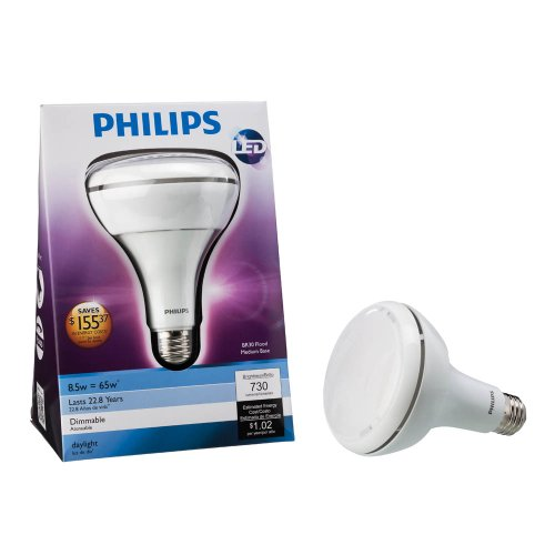 Led Flood Light Bulbs 5000k: Philips 425306 8.5 Watt (65-Watt) BR30 Indoor Daylight