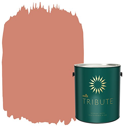 KILZ TRIBUTE Interior Matte Paint and Primer in One, 1 Gallon, Baked Terra Cotta (TB-94)