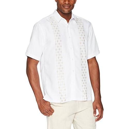 VividYou Mens Button Oversized Printed Short-Sleeve Summer Beach Tops Shirt