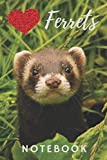 Ferret Notebook: cute ferrets gift for children who love animals (blank lined notebook) pet notepad for girls / best for writing stories, notes and ... / journal for journaling / ferret journal