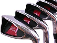 "Extreme X5 Wide Sole iBRID Iron Set Complete 8-Piece Senior Ladies Iron Set (4-SW) Right Handed Lady Flex ""L"" Flex Club with Tacki-Mac Arthritic Grip"