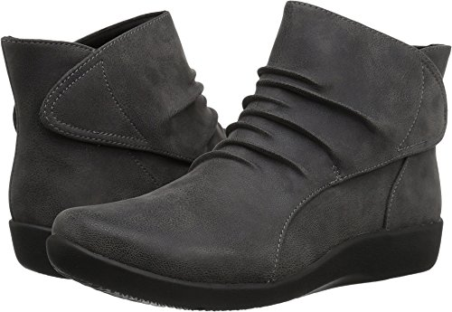 CLARKS Women's Sillian Sway Ankle Bootie, Grey, 8.5 M US