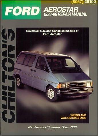 ford: aerostar 1986-96 (chilton's total car care series) paperback –  november 1, 1996