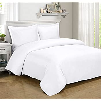 Royal Hotel BAMBOO Duvet Cover 100% BAMBOO Viscose Comforter Cover - Duvet Cover Set with Corner Ties and Button Closer, King/Cal King size White
