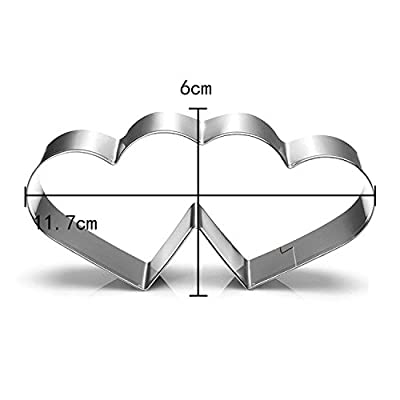 Stainless Steel Cake Biscuit Cookie Cutter Mold DIY Baking Pastry Tool 35 Styles (Pattern: Double Heart-shaped)