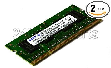 Samsung Apple RAM Kit - 2GB (2x1GB) 2Rx16 PC2-6400-666-12-A3 DDR2 SODIMM 800MHz -- Memory removed from a 24