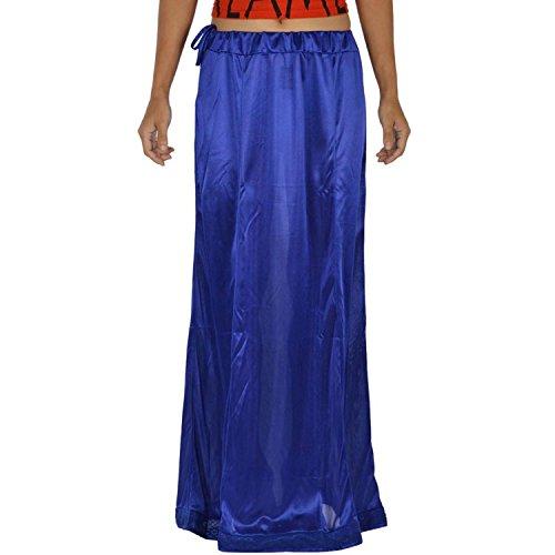 Odishabazaar Women Saree Satin Petticoat Underskirt Inskirt Stitched Lining (obp-12)