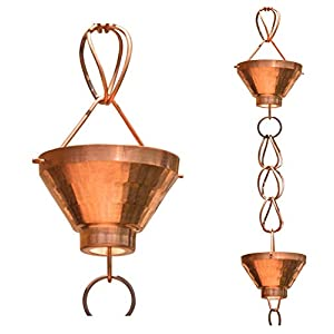 Monarch Pure Copper Siam Rain Chain, 8-1/2 Feet Length