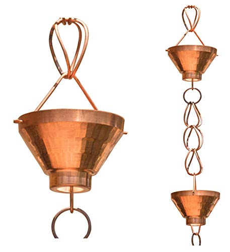 - Monarch Pure Copper Siam Rain Chain, 8-1/2 Feet Length