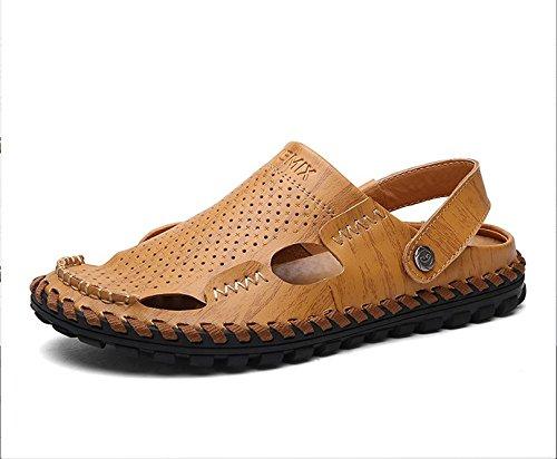 Xing Lin Sandales En Cuir Les Sandales DÉté Pour Hommes Chaussures De Plage LAntidérapant Hommes Occasionnels De Conduite À Double Usage 38 Chaussures En Cuir, Des Sandales, Une Paire De Chaussures
