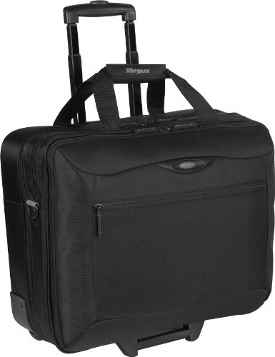 Targus CityGear 17-Inch Rolling Travel Case for Notebooks with Bonus Sleeve - Black with Yellow (Roller Notebook Bag)
