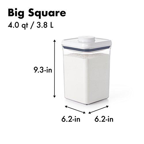 OXO Good Grips POP Container - Almacenamiento hermético de alimentos - 4 Qt para harina y más