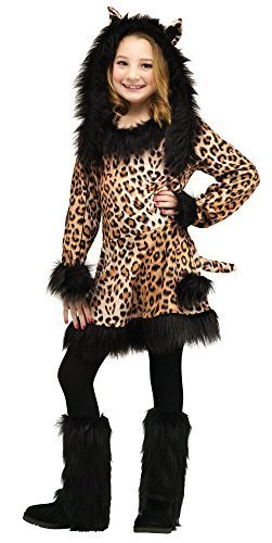 [Natural Leopard Child Costume (Large)] (Kids Natural Leopard Costumes)